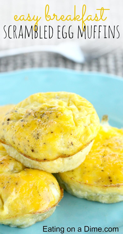 fácil café da manhã - muffins de ovos mexidos