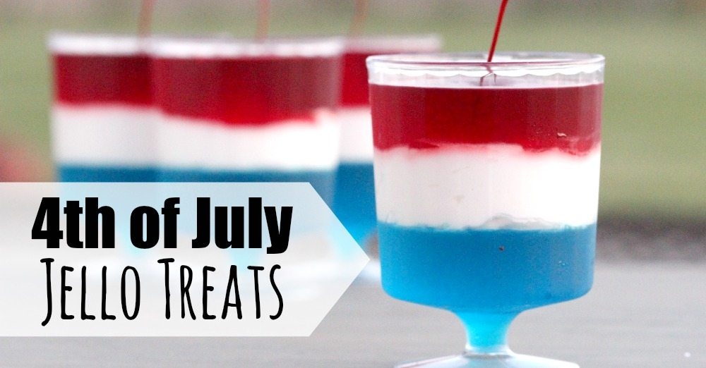 Red white and blue jello treats are so fun and festive. Plus, they are really easy to make. Everyone will love this patriotic recipe.
