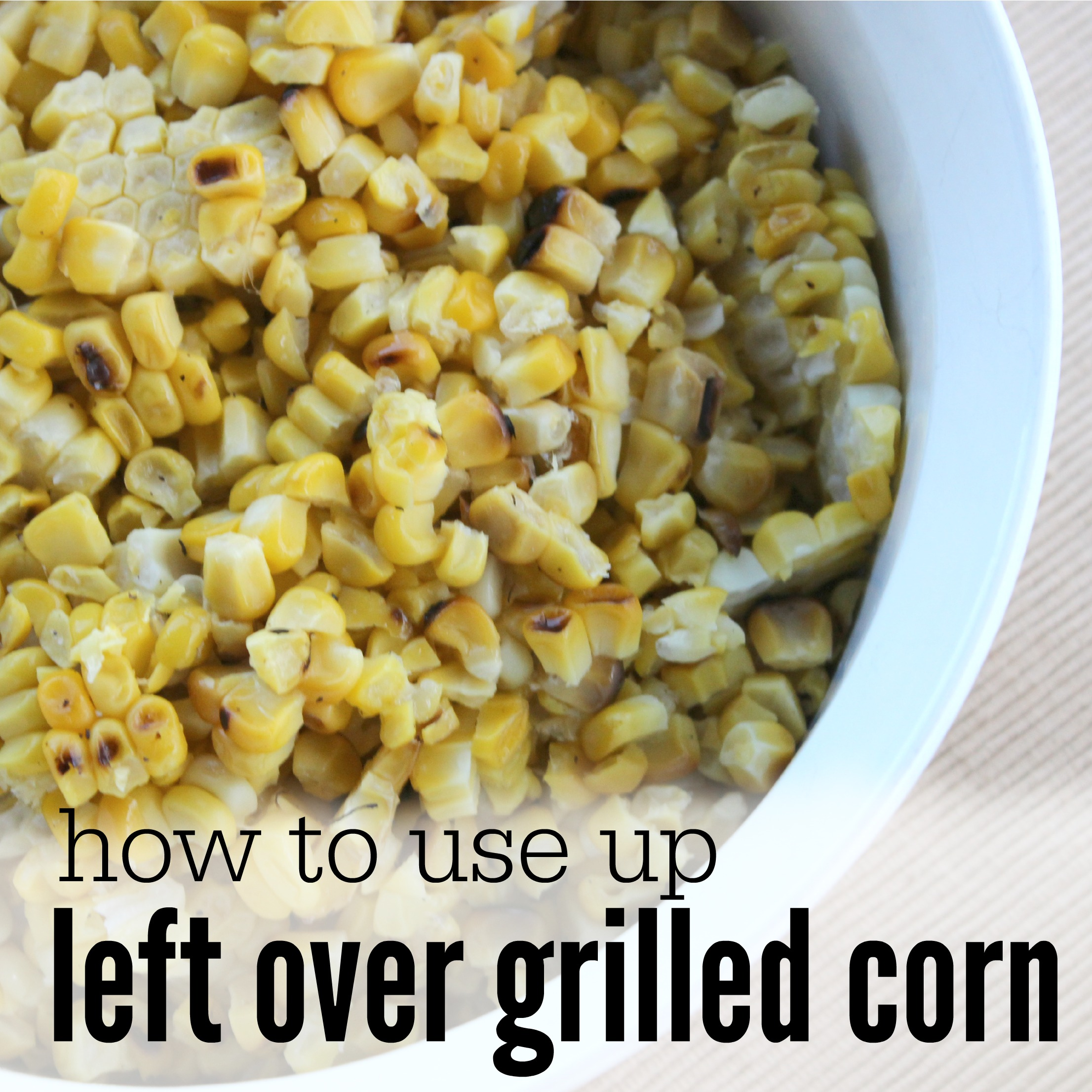 left over grilled corn square