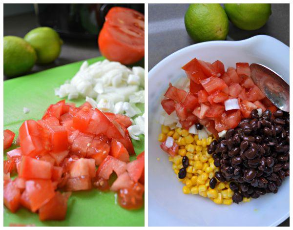 black bean salsa - chop and make