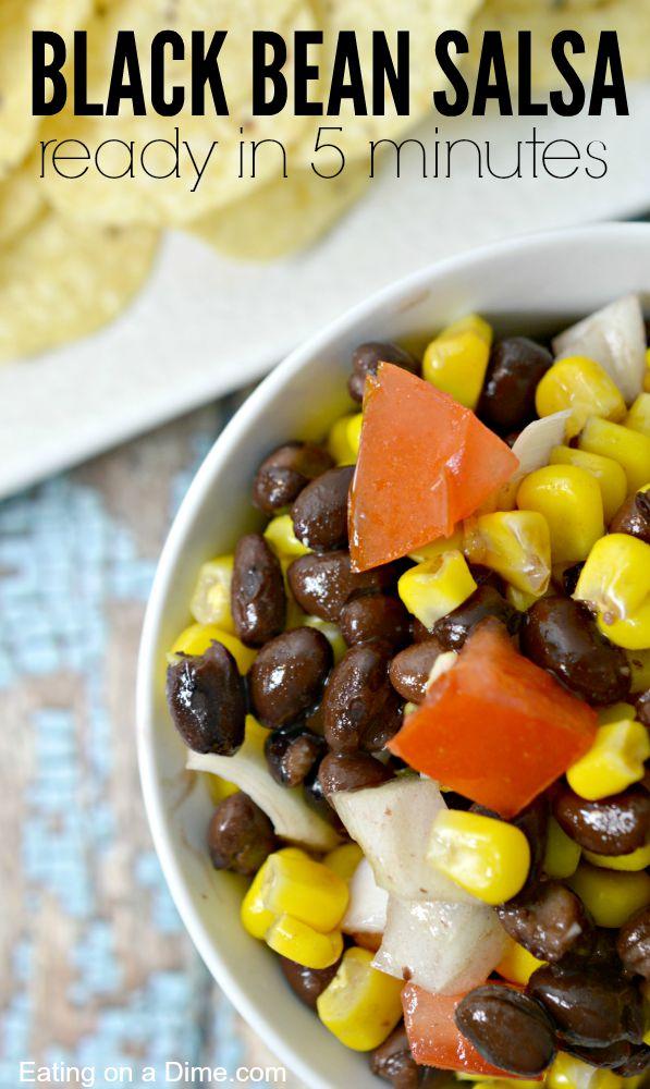 black bean salsa recipe 5 minutes