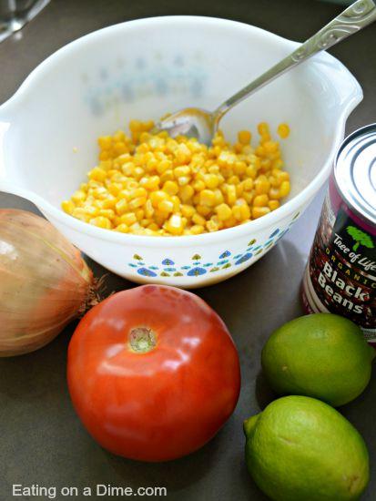 black bean salsa recipe ingredients