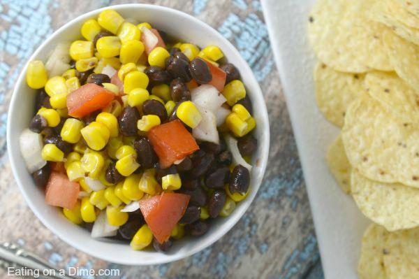black beans salsa dip recipe