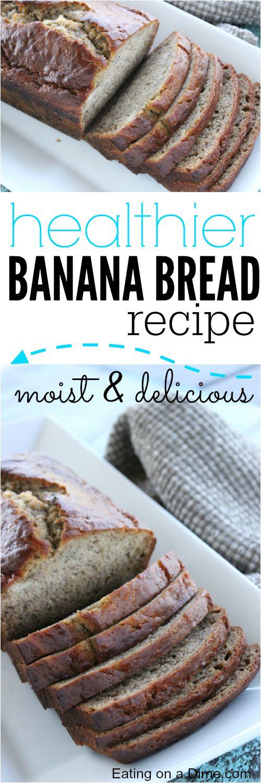 moist healthy banana bread recipe