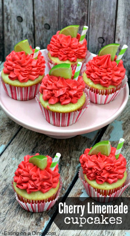 Cherry Limeade Cupcakes Eating on a Dime