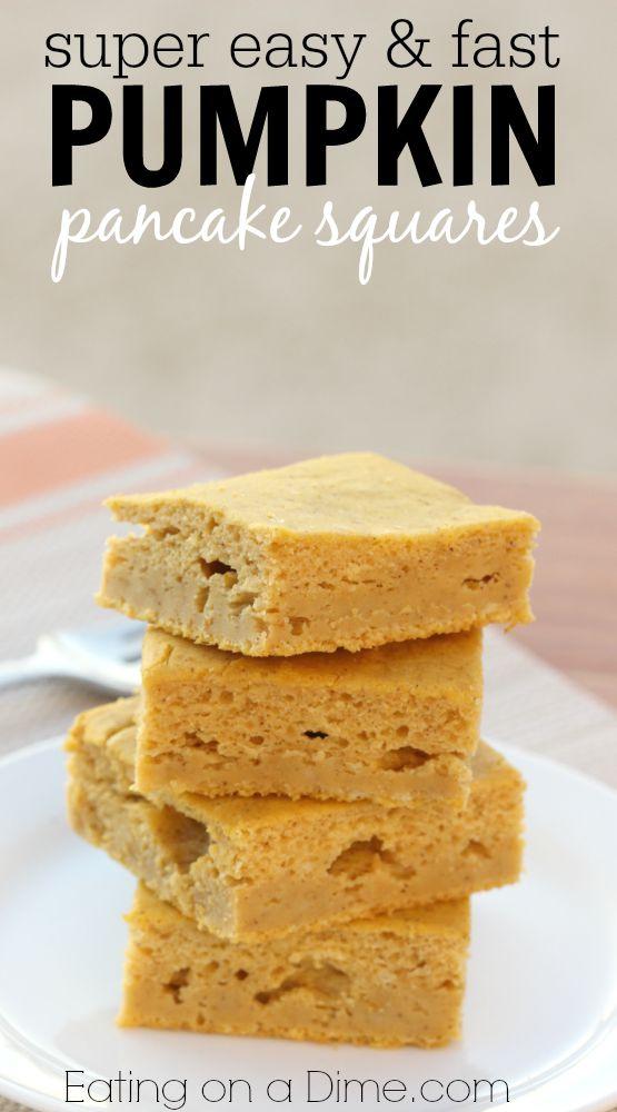 pumpkin pancake squares